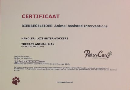 certificaat dierbegeleider
